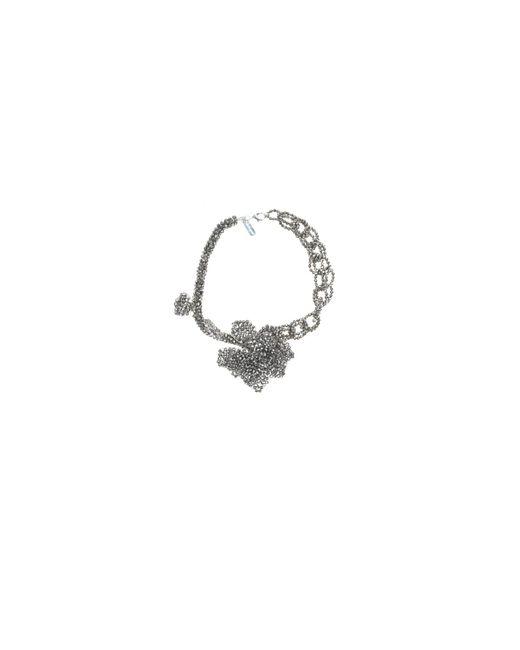Night Market | Metallic Silver Short Chain Necklace | Lyst