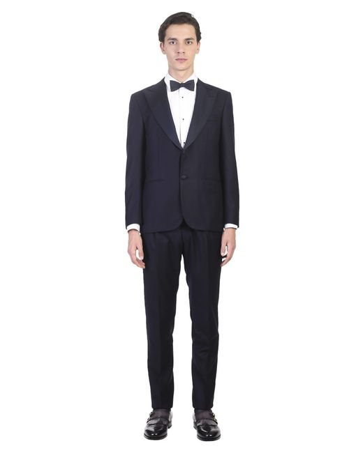 Kiton - Blue Wool Suit for Men - Lyst