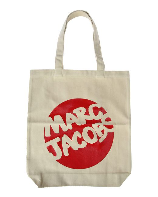 Marc Jacobs   Red Canvas Logo Print Tote   Lyst
