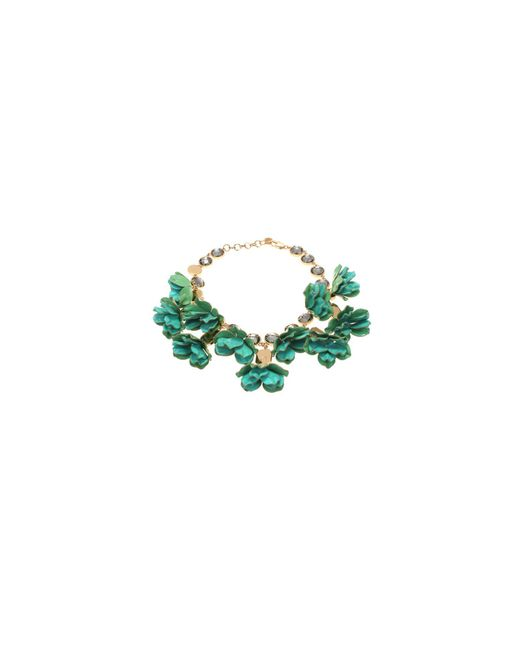 Tory Burch | Green Pentier Turquouise Flowers Necklace | Lyst
