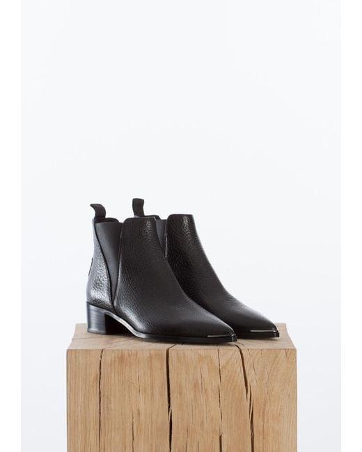 Acne | Black Jensen Grain Boots | Lyst