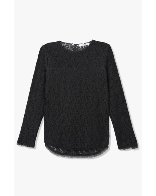 Derek Lam | Black Lace Blouse | Lyst