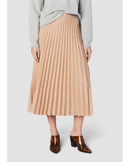10 Crosby Derek Lam - Pink Pleated Lurex Knit Skirt - Lyst
