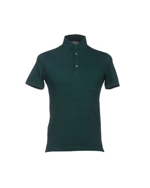 Zanone polo shirt in green for men emerald green lyst Emerald green mens dress shirt