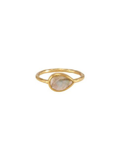 Melinda Maria | Metallic Nell Ring With Labradorite Stone | Lyst