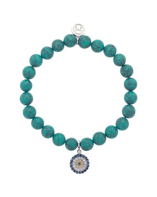 Melissa Odabash | Blue Rhinestone Stretch Bracelet | Lyst