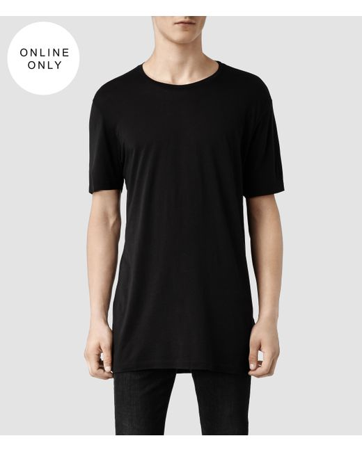 AllSaints   Black Tower Crew T-shirt for Men   Lyst