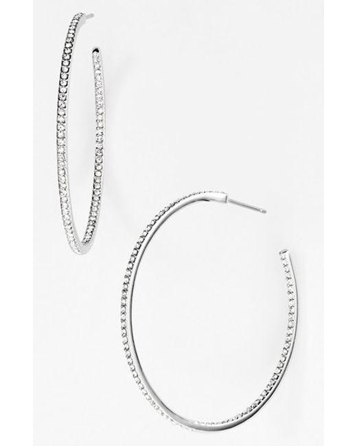 Nadri   Metallic Medium Inside Out Hoop Earrings (nordstrom Exclusive)   Lyst