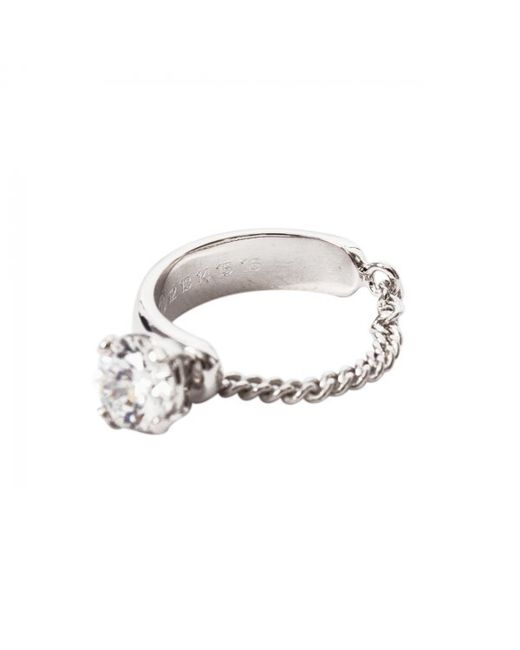 Maison Margiela | Metallic Zircon Chain Ring Silver | Lyst