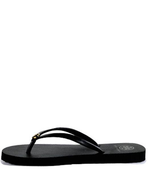 Tory Burch | Black Rubber Thong Sandal | Lyst
