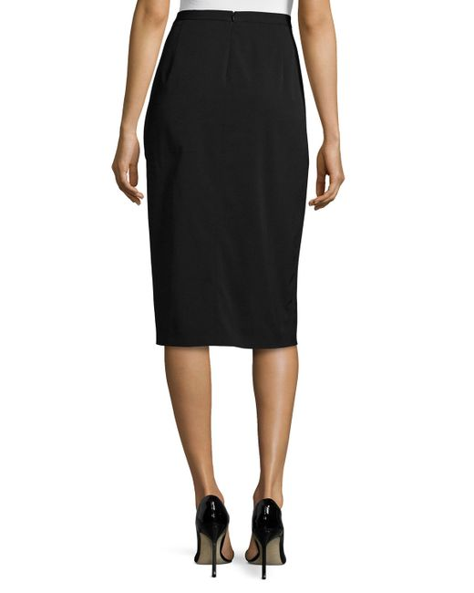 michael kors draped sarong pencil skirt in black lyst