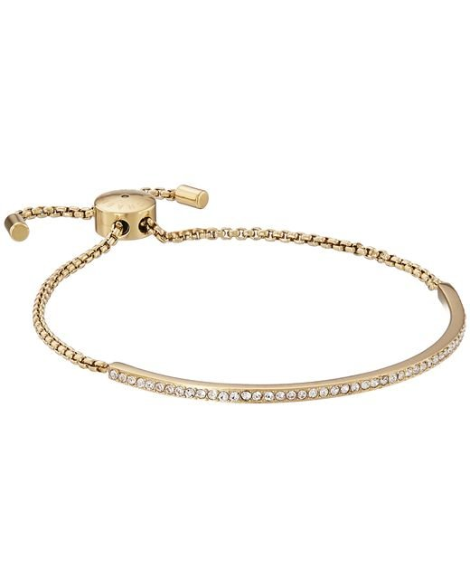 Michael Kors | Metallic Brilliance Pave Bar Slider Bracelet | Lyst