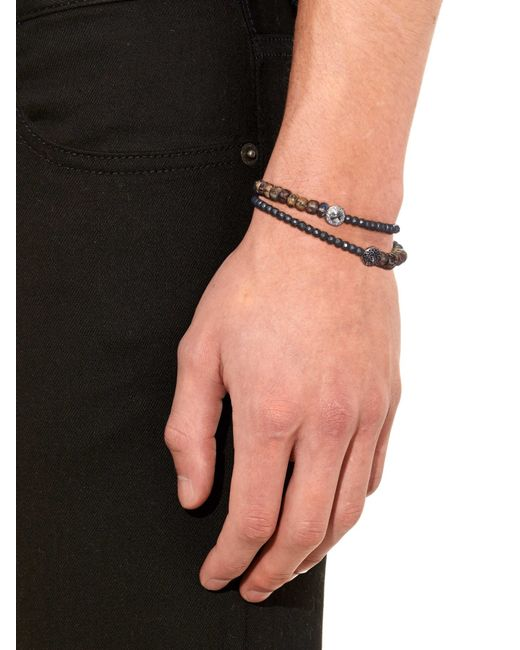 Luis Morais | Brown Diamond, Pyrite And White-Gold Bracelet for Men | Lyst