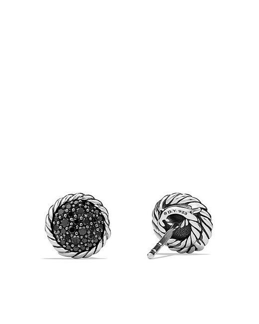 David Yurman | Petite Pave Earrings With Black Diamonds | Lyst