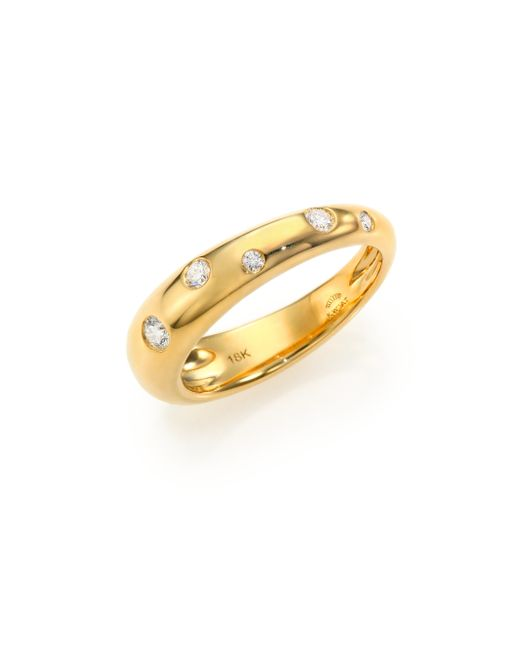 Kwiat | Metallic Cobblestone Diamond & 18k Yellow Gold Band Ring | Lyst