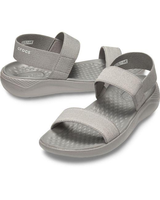 9fb4f9ed8e38 ... Crocs™ - Gray Literide Sandals - Lyst ...