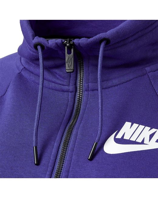 db051a89cd3a ... Nike - Purple Sportswear Rally Half-zip Sweatshirt - Lyst ...