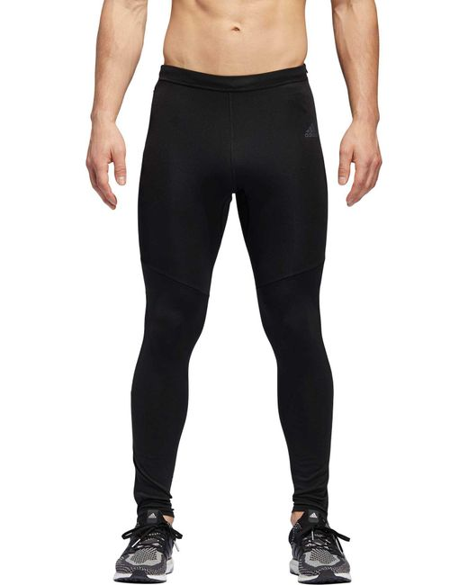 9f4f6cd8db89a Adidas - Black Response Running Tights for Men - Lyst ...
