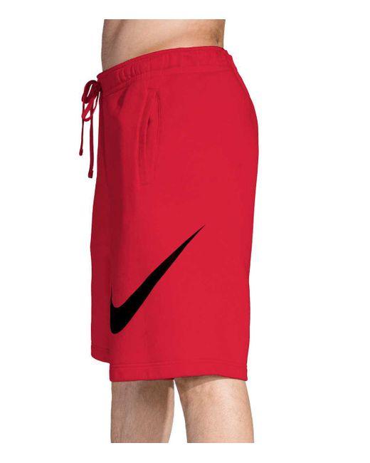 71c5f8b872 ... Nike - Red Sportswear Club Fleece Sweatshorts for Men - Lyst ...