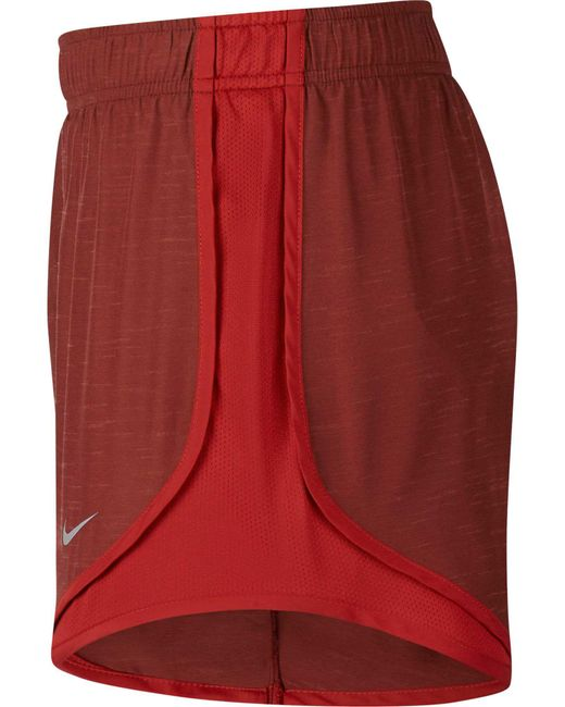 a9cd7403777e ... Nike - Red 3   Dry Tempo Heatherized Running Shorts - Lyst