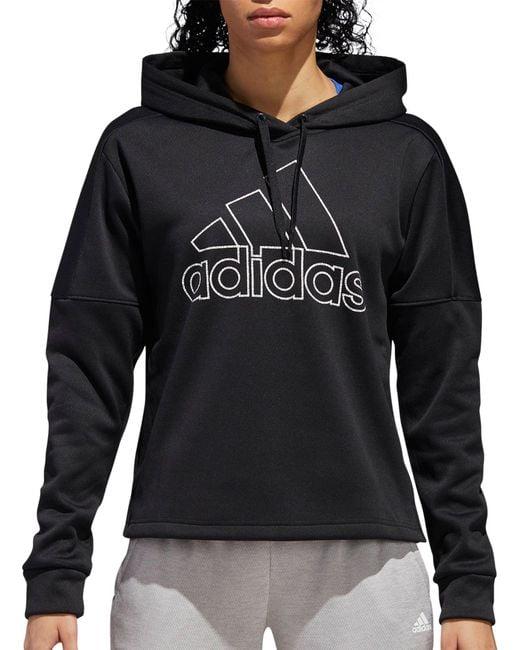 Adidas - Black Team Issue Badge Of Sport Hoodie - Lyst