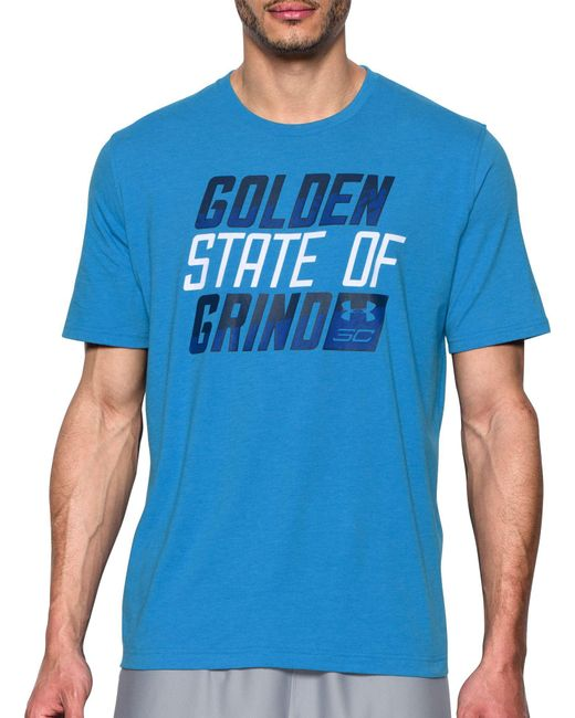 Under Armour - Blue Sc30 Golden State Of Grind Graphic Basketball T-shirt for Men - Lyst