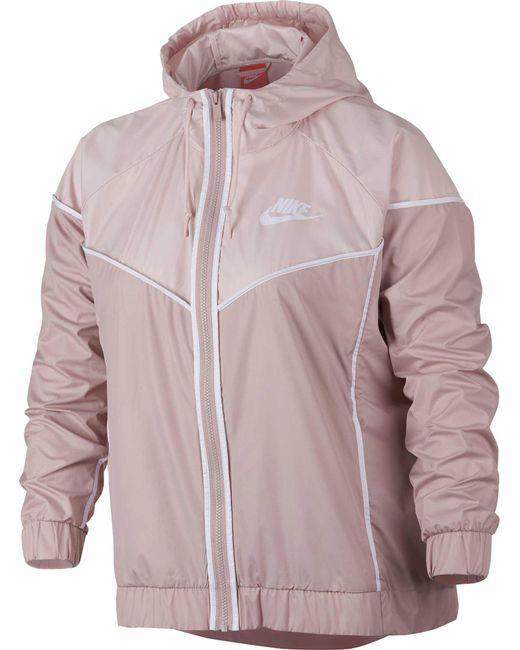 Nike - Pink Plus Size Sportswear Windrunner Jacket for Men - Lyst