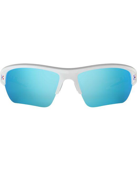 1533b8571ff ... Under Armour - Blue Youth Menace Tuned Baseball softball Sunglasses for  Men - Lyst ...