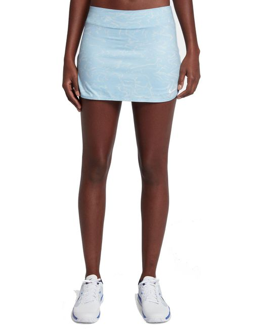 meet 5af9e 72bfb Nike - Blue Pure Tennis Skirt - Lyst ...
