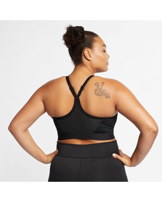94898a0a7e587 ... Nike - Black Plus Size Solid Indy Sports Bra - Lyst ...