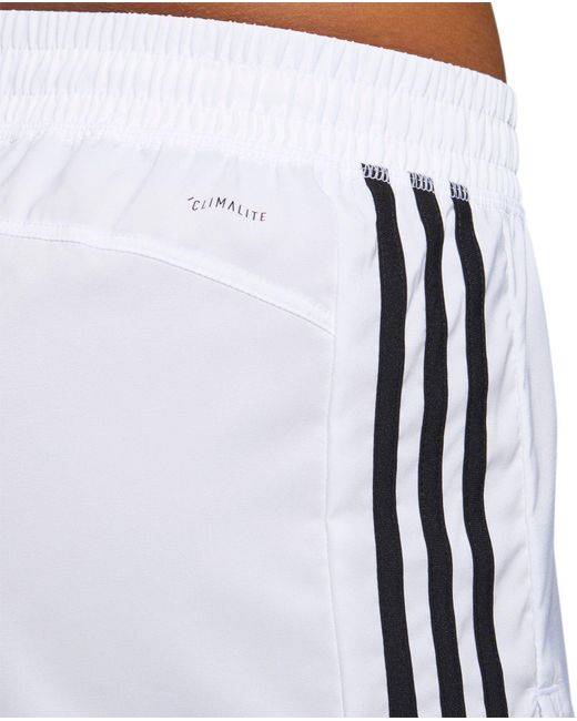 2854e740a4 Lyst - adidas Pacer 3-stripes Woven Shorts in White