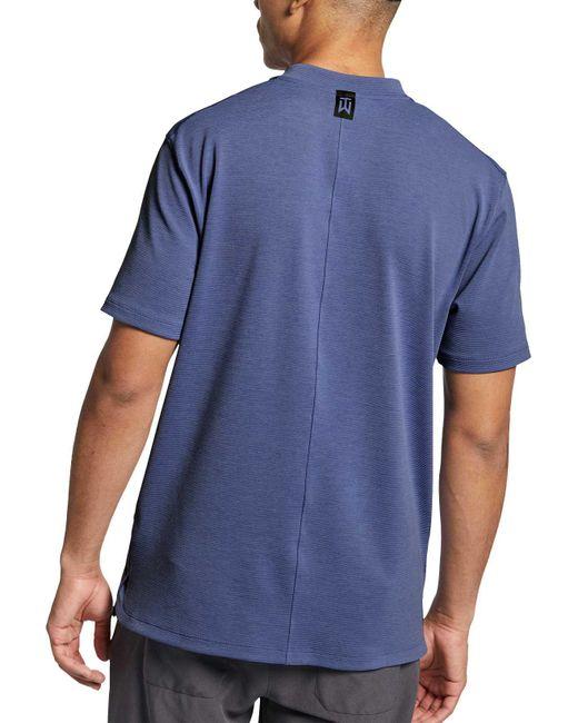 d96cb004 ... Nike - Blue Aeroreact Tiger Woods Vapor Golf Polo for Men - Lyst ...