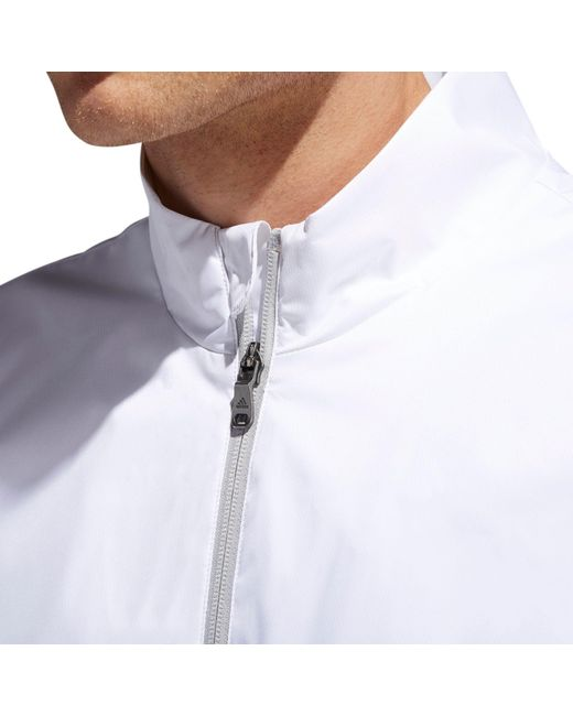 4721b056fec4d5 ... Adidas - White Climastorm Provisional Golf Rain Jacket for Men - Lyst  ...