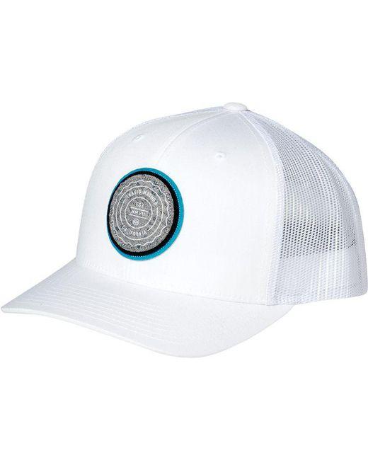best service 07e63 cd98b ... authentic travis mathew white trip l golf hat for men lyst 6117f 9ea96