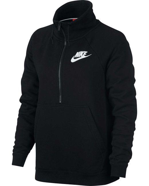 0d6adf2800eea Lyst - Nike Sportswear Rally Half-zip Sweatshirt in Black - Save ...