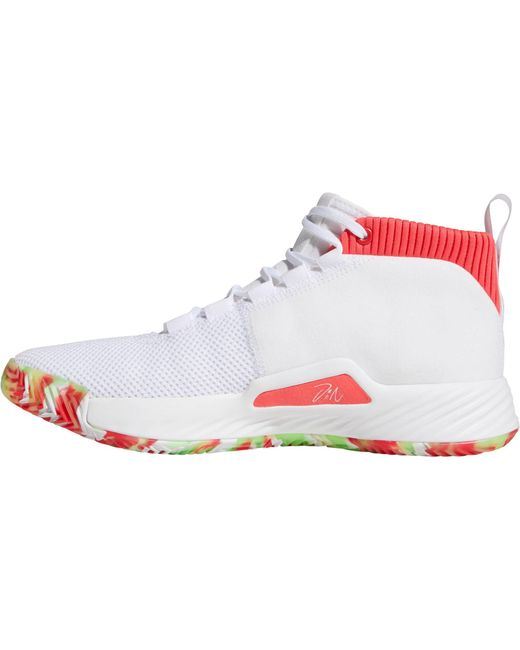 big sale 52cb2 a99f2 ... Adidas - White Dame 5 Basketball Shoes for Men - Lyst ...