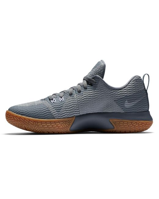 33adf8c078f ... Nike - Gray Zoom Live Ii Basketball Shoes for Men - Lyst ...