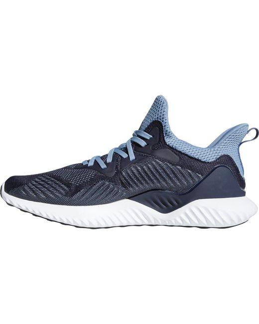 lyst adidas alphabounce oltre le scarpe da corsa in blu per gli uomini.