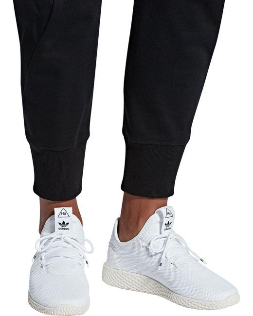 9e4a974400dc0 ... Adidas - White Originals Pharrell Williams Tennis Hu Shoes for Men -  Lyst ...