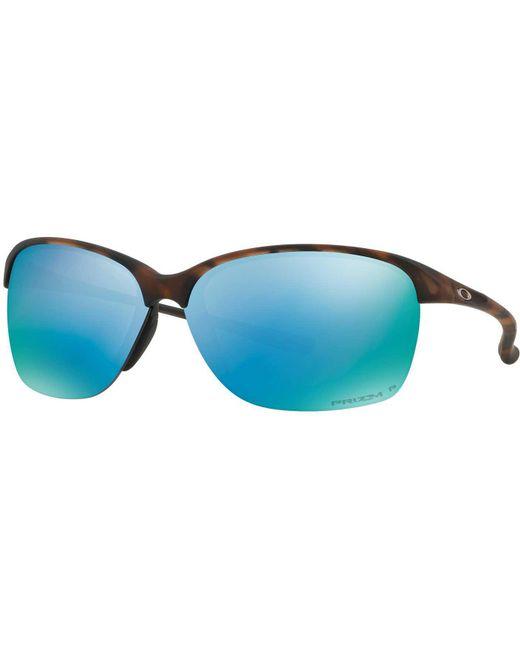 50bf0e594ba ... Oakley - Blue Unstoppable Polarized Sunglasses - Lyst