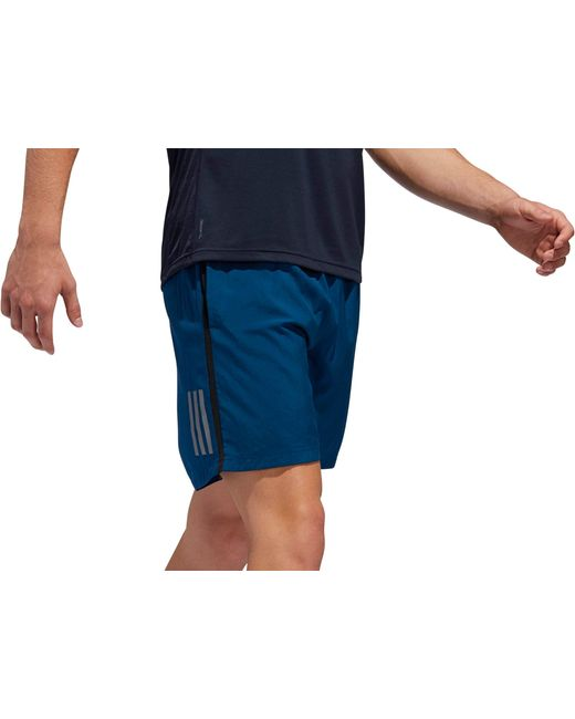 hot sale online 2110e bd5ad ... Adidas - Blue Own The Run 7   Running Shorts for Men ...
