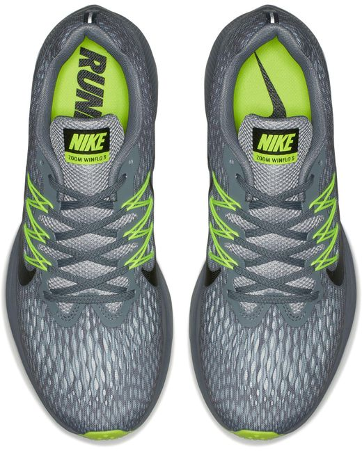 7e16043b2f25d cheap nike gray air zoom winflo 5 running shoes for men lyst 70a85 7a310