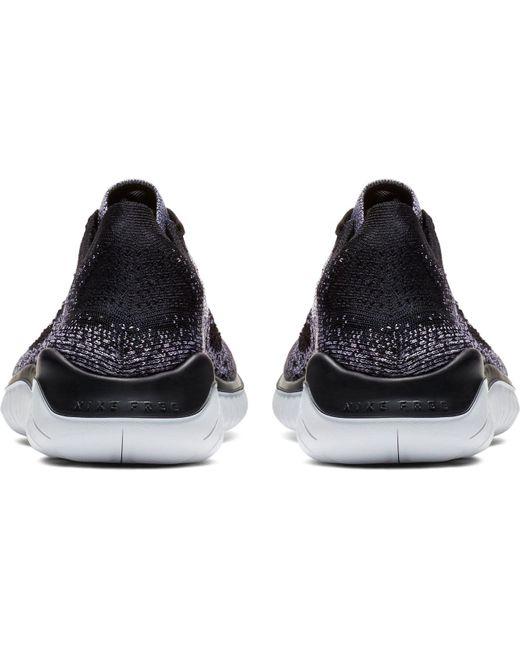 bd6b999173f6 Nike Free 2018 Shoes Black Flyknit In Rn Lyst Running q4cfvTvy