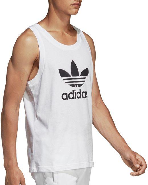 595ef9c9c9d70 ... Adidas - White Originals Trefoil Tank Top for Men - Lyst ...