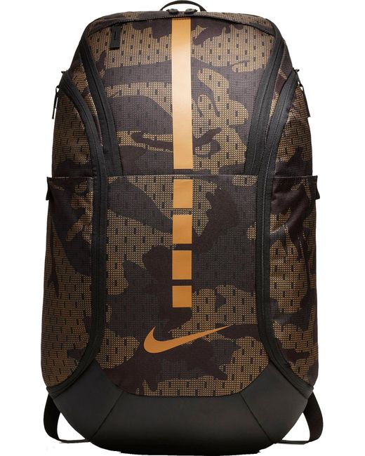 Nike Brown Hoops Elite Pro Camo Basketball Backpack for men