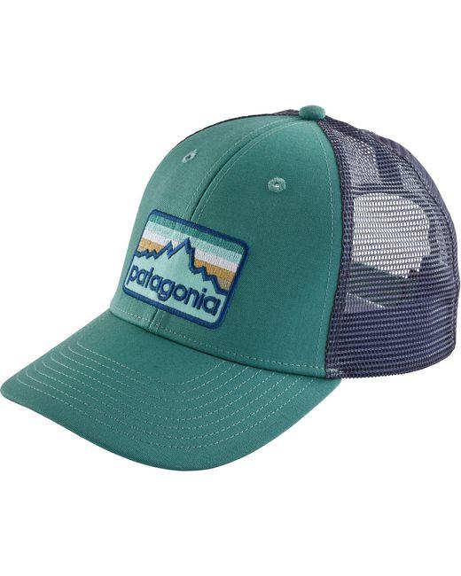 Patagonia - Green Line Logo Badge Lopro Trucker Hat for Men - Lyst
