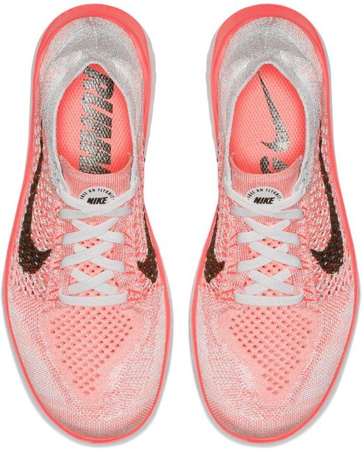 separation shoes 3e5de 5e284 ... Nike - Red Free Rn Flyknit 2018 Running Shoes - Lyst ...