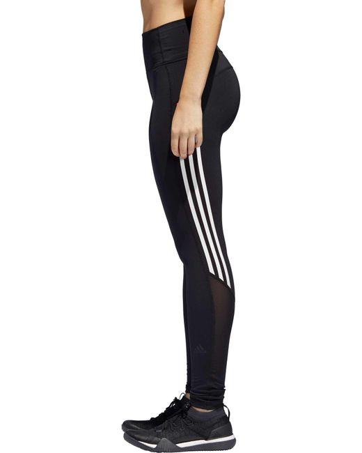 Adidas - Black Elieve This 3-stripe 7 8 Training Tights - Lyst ... 6237bf661