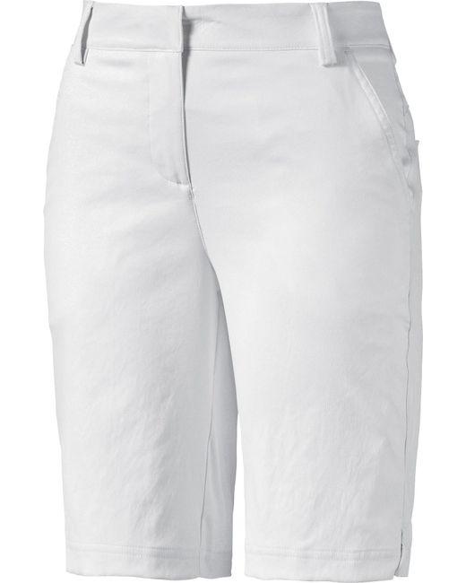 PUMA - White Pounce Bermuda Golf Shorts - Lyst