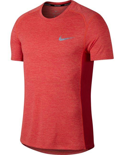 Nike Reathe Miler Running T Shirt In Red For Men Lyst